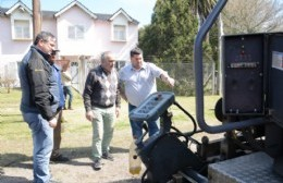 Nedela y Lozano supervisaron los trabajos de bacheo sobre la Ruta 15