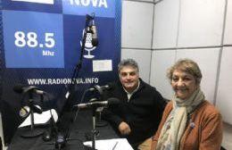 Ricardo Torres y Ana Lara en el aire de BerissoCiudad en Radio.