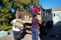 El SAE concretó la entrega de bolsones de mercadería para los vecinos de Berisso