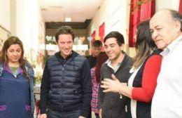 Sánchez Zinny visitó la Escuela Primaria N° 1