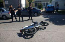 Accidente en la 122 entre una motocicleta y un automóvil