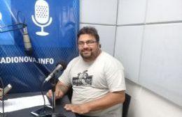 Gabriel Montenegro en el aire de BerissoCiudad en Radio.