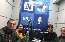 Claudio Hiser y José Haunau, en Cadena Radial NOVA.