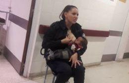 La policía berissense Celeste Ayala.