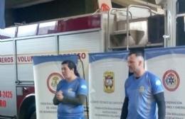 Orgullo bomberil berissense: Carolina Fernández y Hugo Baudry obtuvieron sexto lugar a nivel latinoamericano