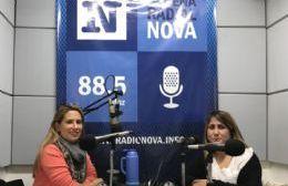 Florencia O'Keefee y Mara González, en el aire de BerissoCiudad en Radio.
