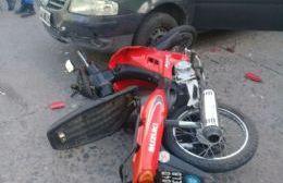 El conductor del rodado menor resultó herido.