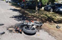 Resultó herido el conductor del rodado menor.