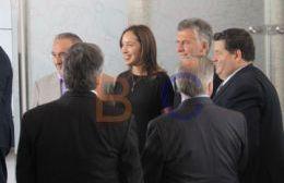 El intendente fue el anfitrión del Presidente y de la gobenadora.