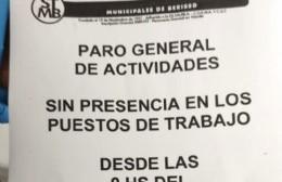 De jueves 30 a lunes 4: Paro general de los municipales, sin presencia en el lugar de trabajo