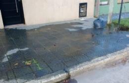 Veredas inundadas y una manzana sin agua  en 156 entre 10 y 11