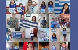 Participación del ballet infantil de Berisso en el bicentenario de la independencia de Grecia