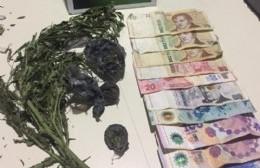 Joven aprehendido por venta de marihuana en la vía pública