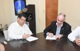 Nedela firmó un convenio de cooperación con el Colegio de Ingenieros de la Provincia