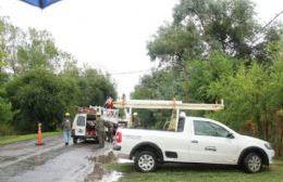 Sin luz en varios puntos de la ciudad por obras de mantenimiento