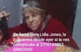 Familiares buscan a Cora Lidia Jones, desaparecida desde el viernes 27