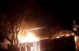 Se incendió una vivienda en 18 bis y 148