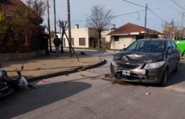 Choque en 24 y 165: Motociclista herido