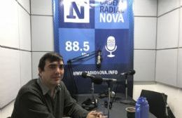 Gonzalo Palomino, en el aire de BerissoCiudad en Radio.