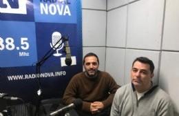 Juan Ignacio Mincarelli y Javier Astorga, precandidatos a intendente y a concejal, respectivamente.