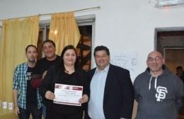 """Nedela participó de la entrega de diplomas y recorrió las instalaciones de """"Tomar Conciencia"""""""