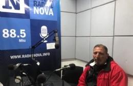 Jorge Di Pietro en el aire de BerissoCiudad en Radio.