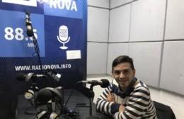 Matías Nanni, en el aire de BerissoCiudad en Radio.