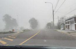 Niebla espesa y persistente en la región