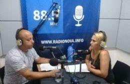David Rivainera en diálogo con Silvia Cellini, por Cadena Radial NOVA. (Foto NOVA)