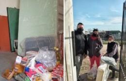 """""""Los Talitas"""": entrega de bolsones, colchones y abrigos para los desocupados"""