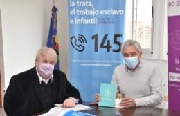 Cagliardi firmó convenio para promover políticas sobre capacitación y difusión de la trata de personas