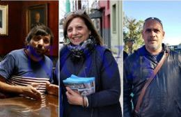 """La única Lista del PJ en Ensenada: Miguel Mármora, presidente; Nora Turconi, vice; """"Lalo"""" Vallejos, secretario general. (Foto: NOVA)"""