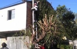 """Ante """"la ausencia del Estado"""", los propios vecinos se encargan de las luminarias en El Carmen"""