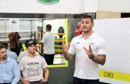 Capacitación de boxeo a cargo del excampeón Mariano Plotinsky
