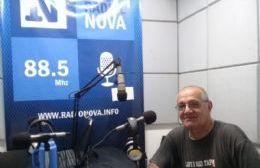 Hugo Banderas en el aire de BerissoCiudad en Radio.