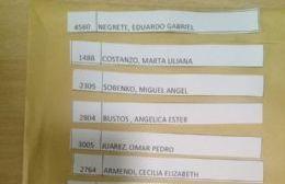 Se realizó el segundo sorteo de 30 bonos comestibles para los afiliados municipales