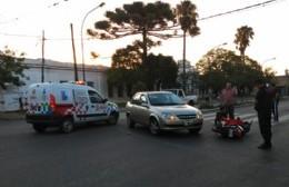 Choque en Montevideo y 6: Un herido leve