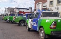 Manifestación policial en plena Montevideo