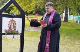 El Hogar de Ancianos ya tiene su imagen bendecida de la Virgen de Luján