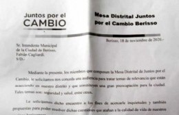 La Mesa Política de Juntos por el Cambio pidió audiencia con Cagliardi