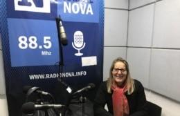 Elizabeth Franchi, en el aire de BerissoCiudad en Radio.