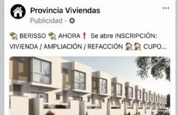 Ante dudas vecinales, la comuna aclara que no está vinculada con publicidad de viviendas a través de Facebook