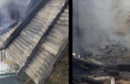 Investigan si fue intencional un incendio que destruyó casilla de 151 entre 16 y 17