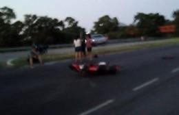 Una moto se llevó la peor parte.