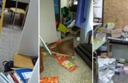 Robo y vandalismo en la Escuela Secundaria Nº 8