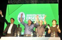 Mario Secco, Axel Kicillof y Ramón Garaza celebraron los cinco años de la recuperación de YPF. (Foto: NOVA)