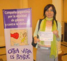 La psic�loga Silvana Trotta, integrante de la ONG Decir Basta.